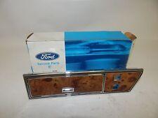 New OEM 1985 Ford Door Panel Insert Switch Housing Left Hand Side Wood Grain