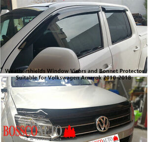 Weathershields and Bonnet Protector Suitable For Volkswagen Amarok 2H 2009-2020