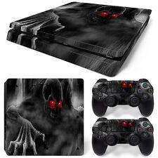 SONY PS4 PlayStation 4 Slim Skin Adesivo Pellicola Protettiva Set - dark teschio