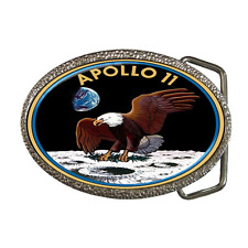 APOLLO 11 INSIGNIA NASA SPACE EXPLORATION MISSION BELT BUCKLE -GREAT GIFT ITEM