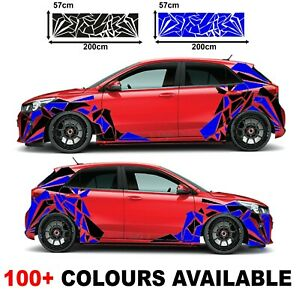 Car Camouflage kit camo rice side panel door stickers decals sheets 2 colours