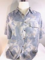 Reel Legends Men's Size Large Blue Vented Short Sleeve Fishing Fish Soft Casual