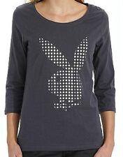 tee-shirt manches 3/4 PLAYBOY gris/argenté taille L - neuf
