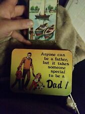 Playing Cards Pinochle oman and anyone can be a father special dad tin cards