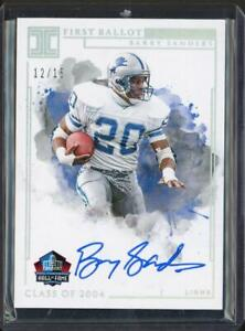 2019 Panini Impeccable First Ballot Signatures Barry Sanders Auto /15 #FBSBS