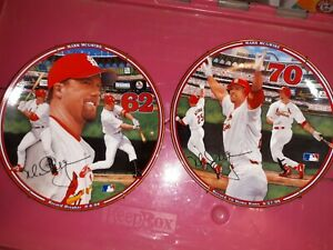 2 Mark McGwire Bradford Plates 62 and 70 both with COAs Excellent