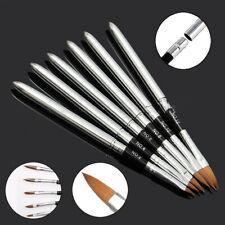 6PCS Set Professional Acrylic Nail Art Brush Pen Detachable Lid Manicure Tools