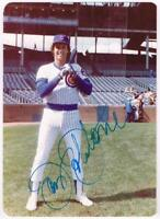 Original Autograph PSA/DNA of Jay Johnstone of the Cubs on a 3.5x5 Photo