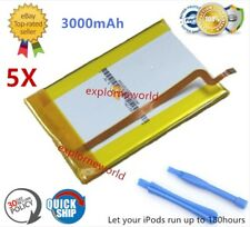 5X 3000mAh Battery Upgrade replacement for iPod Classic 6 6.5 7 Video 5 5.5 Thin