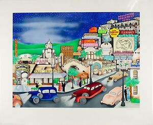 """""""Hollywood In The 30's"""" By Linnea Pergola Signed Limited Edition Serigraph"""