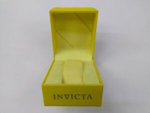 INVICTA Authentic Yellow Watch Box Storage Case Presentation Display MEDIUM
