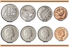 CAYMAN ISLANDS UNC SET OF 4 COINS 1 5 10 25 CENTS 2008 QUEEN ELIZABETH II