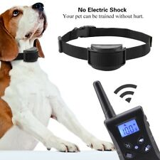 Waterproof Anti Barking Collar No Hurt Pet Dog Training Black Electric Remote