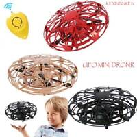 Kids Mini UFO Drone RC Infrared Sensor Induction Aircraft Quadcopter Flying Toys