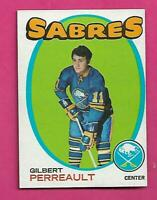 1971-72 TOPPS  # 60 SABRES GILBERT PERREAULT 2ND YEAR EX-MT CARD (INV# D0850)