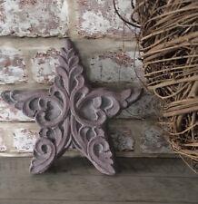 Star Stone Large Carved  Decor Indoor Outdoor Freestanding Brown/Grey Wedding