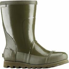 Sorel Womens Green Joan Rain Short Gloss Boot Mid Waterproof Boots US 10 EU 41