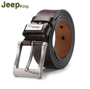 Men's Belts Genuine Real Leather Girdle Buckle Waistband Waist Band Belt Strap