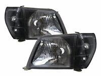 LAND CRUISER PRADO FJ90 MK2 1996-2003 2D/4D Clear Headlight Black for TOYOTA LHD