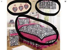 Girls Zebra Print & Pink Bedding Set - USA import