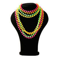 80's Prom Party Plastic Neon Solid Color Bead Chain Plastic Bead String TL
