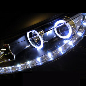 Front CCFL Angeleye LED Head Light Lamp Assembly 2p For 11 12 Kia Sportage R