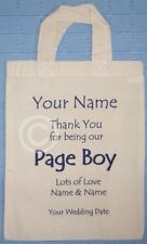 PERSONALISED - PAGE BOY - WEDDING GIFT BAG - Cotton