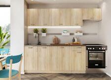 MODERN Kitchen 7 Units Cabinets Set Sonoma Oak Cupboard 240cm Budget Cheap Small