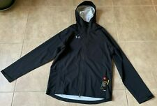 Under Armour Storm Rain Jacket Zip Up w/ Hood Black Men's M NEW w/ tag