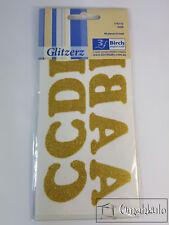 BIRCH - Glitzerz - Iron-On Glitter Letters - GOLD - 40 Letters Per Pack -*