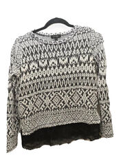 Jessica Simpson Womens Sz S Small Long Sleeve Sweater Black And White