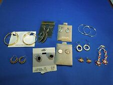 Lot of Earrings Both Vintage and Modern- Silver and Gold Tone Stud, Drop etc