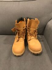 "Timberland Men's 6"" Premium Waterproof Boots Wheat Size 14M, MSRP $189.98"