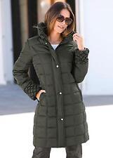 Kaleidoscope Creation L Longline Padded Jacket Khaki Size UK 16 Box4677 F