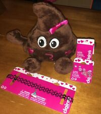 Claire's Jewelry Plush Poop Emoji Lot Nwt Valentines Easter Lot Birthday