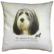 More details for bearded collie   quality 100% cotton cushion cover with zip   howard robinson