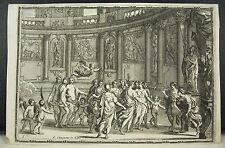 François CHAUVEAU Les délices de l'esprit, Delights of the Spirit gravure c1657