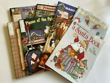 Lot Of 8 Christmas Halloween Easter Tole Folk Art Painting Books With Patterns