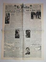 N1012 La Une Du Journal Le Matin 7 décembre 1927 captifs au Maroc inconnu