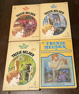 Vintage Lot of 4 Paperback Mystery Books TRIXIE BELDEN Campbell Kathryn Kenny