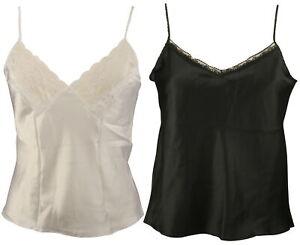Ex-Store Ladies Lace Trimmed Satin Camisole