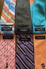 Lot Of 6 Nautica Mens Designer Silk Neckties Tie