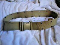 444 ONE GERMAN MILITARY / ARMY BELT NYLON  100 CM FASTEX SR60 METAL EYELETS