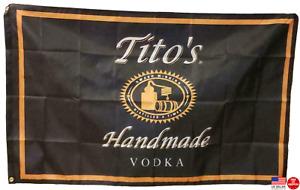 Tito's Vodka 3X5 Flag  Man Cave Flag 3 x 5 Banner Promotional Basement Bar NEW.