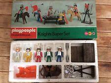 Vintage playpeople Caballeros Super Conjunto de Marx Toys