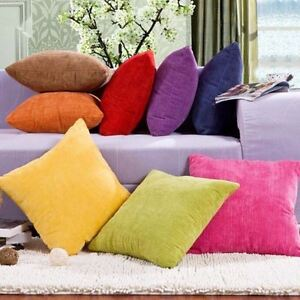 45cm 50cm 55cm Soft Velvet Pillowcase Sofa Cushion Cover Pollow Case Many Colors