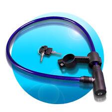 Fahrradschloss 65cm +2 Schlüssel Kabelschloss Fahrradschloss Blau + Halterung