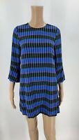 Dusen Dusen Womens Shift Dress Size XS Blue Stripe Tunic Pullover Cotton C7
