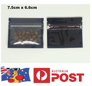 Small 7.5 x 6.6cm Zip Lock Smell Proof Small Bags Resealable Tobacco, Herbs Food