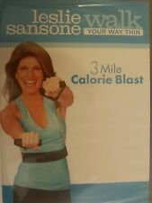 Leslie Sansone 3 MILE CALORIE BLAST (DVD) Walk Away at home the pounds day NEW